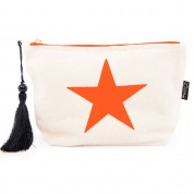 LTLBAG-Cream Neon Orange Star