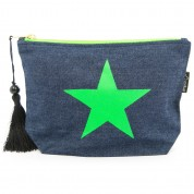 LTLBAG-Denim Neon Green Star