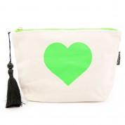 LTLBAG-Cream Neon Green Heart