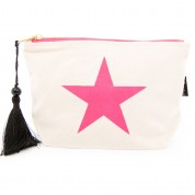 LTLBAG-Cream Neon Pink Star