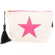 LTLBAG-Cream Neon Pink Star