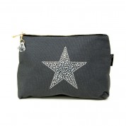 LTLBAG-Grey Rhinestone Star Large