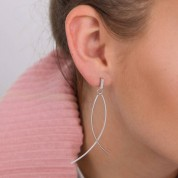 Abstract Fish Earrings