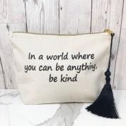 Be Kind Canvas Make Up Bag