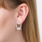 Looped Friendship Knot Earrings