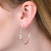 Friendship Knot Hoop Earrings In Three Colours
