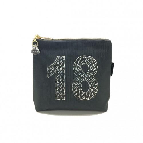 Grey Rhinestone 18th Birthday Bag