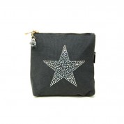 LTLBAG-Grey Rhinestone Star Small