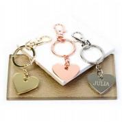Personalised Heart & Star Keyring