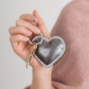 Sparkly Edge Heart Keyring
