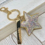 Personalised Sparkly Star Keyring