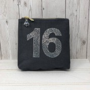 Grey Rhinestone 16th Birthday Bag