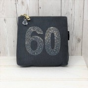 Grey Rhinestone 60th Birthday Bag
