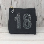 Grey Rhinestone 18th Birthday Bag