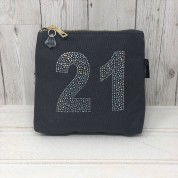Grey Rhinestone 21st Birthday Bag