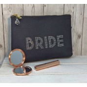 Personalised Grey Bride Bag
