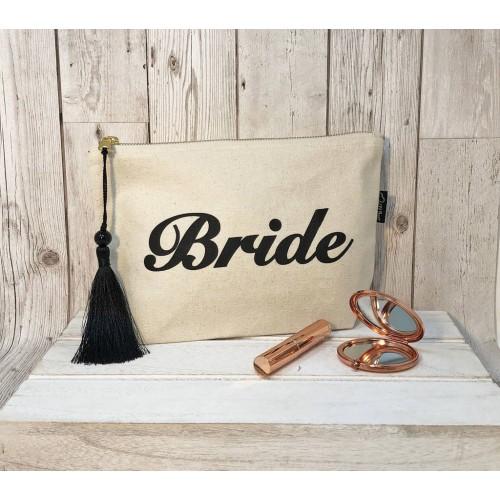 Personalised Cream Bride Bag