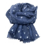 Scarf-Denim Blue Bee SIL Foil