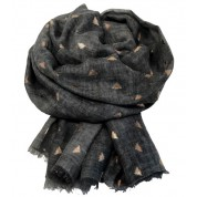 Scarf-Charcoal Bee RG Foil