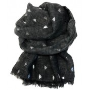 Scarf-Charcoal Bee SIL Foil