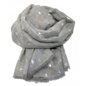 Scarf-Silver Grey Bee SIL Foil