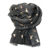 Scarf-Charcoal Horse RG Foil