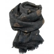 Scarf-Charcoal Mulberry RG Foil