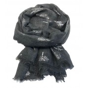 Scarf-Charcoal Mulberry SIL Foil