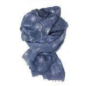 Scarf-Denim Blue Dandelion