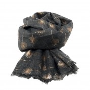 Scarf-Charcoal Dandelion RG Foil