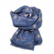 Scarf-Denim Blue Dandelion RG Foil