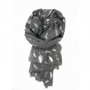 Scarf-Silver Grey Feather