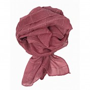 Scarf-Pink Gold Thread Check