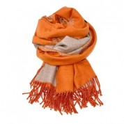 Mulberry Tree Wool Blend Orange/Beige