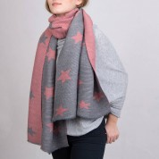 Scarves- Star Soft And Snugly Reversible Scarf