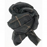 Scarf-Charcoal Grey Rose Gold Stripe