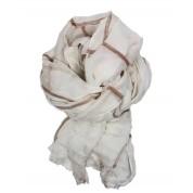 Scarf-White Rose Gold Stripe