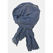 Scarf-Denim Blue Rose Gold Stripe