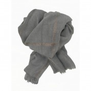 Scarf-Silver Grey Rose Gold Stripe