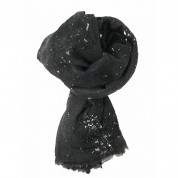 Scarf-Charcoal Grey Splatter