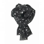 Scarf-Charcoal Grey Stars