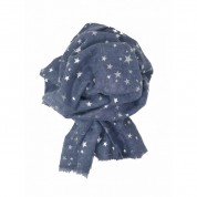 Scarf-Denim Blue Stars