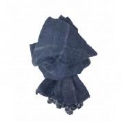 Scarf-Denim Silver Stripe Tassel