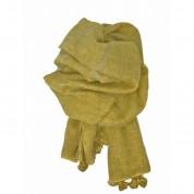Scarf-Mustard Silver Stripe Tassel