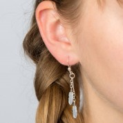 Feather Cascading Silver Earrings