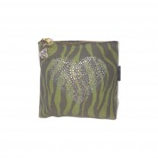 Zebra Small Green Heart