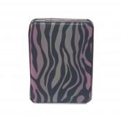 Zebra Compact Mirror Pink