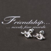HE-Friendship Knot Hammered Earrings