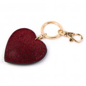 NEW Red Glitz Heart Keyring