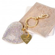 Sparkly Personalised Heart Keyring